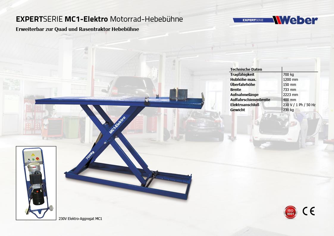 Motorrad Hebebühne MC1-Elektro
