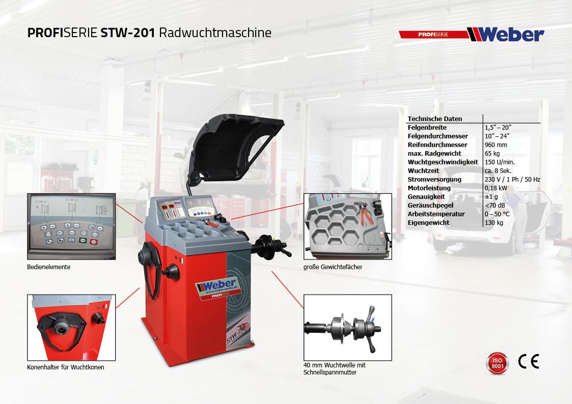 PKW Radwuchtmaschine Weber Profi Serie STW-201