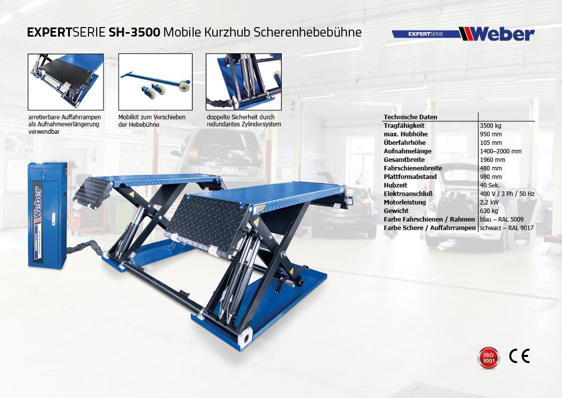 Scherenhebebühne Weber Expert Serie SH-3500