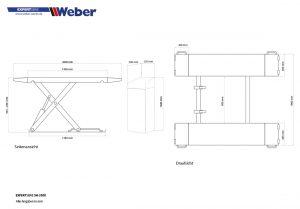 Scherenhebebühne Weber Expert Serie SH 3500