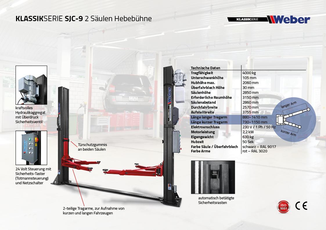 2 Säulen Hebebühne Weber Klassik Serie SJC-9