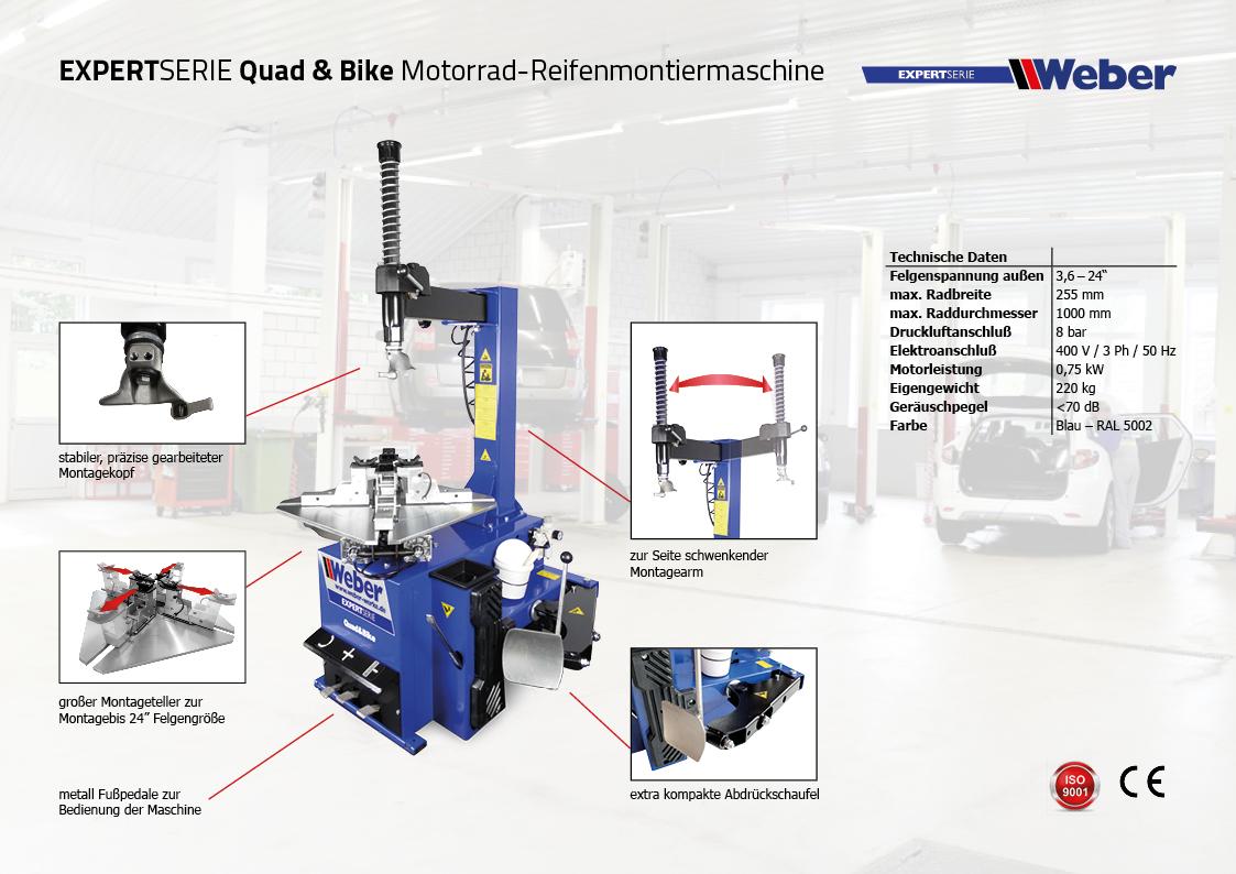 Motorrad Reifenmontiermaschine Quad & Bike