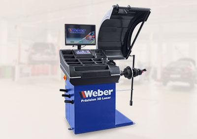 PKW Radwuchtmaschine Präzision 3D-Laser