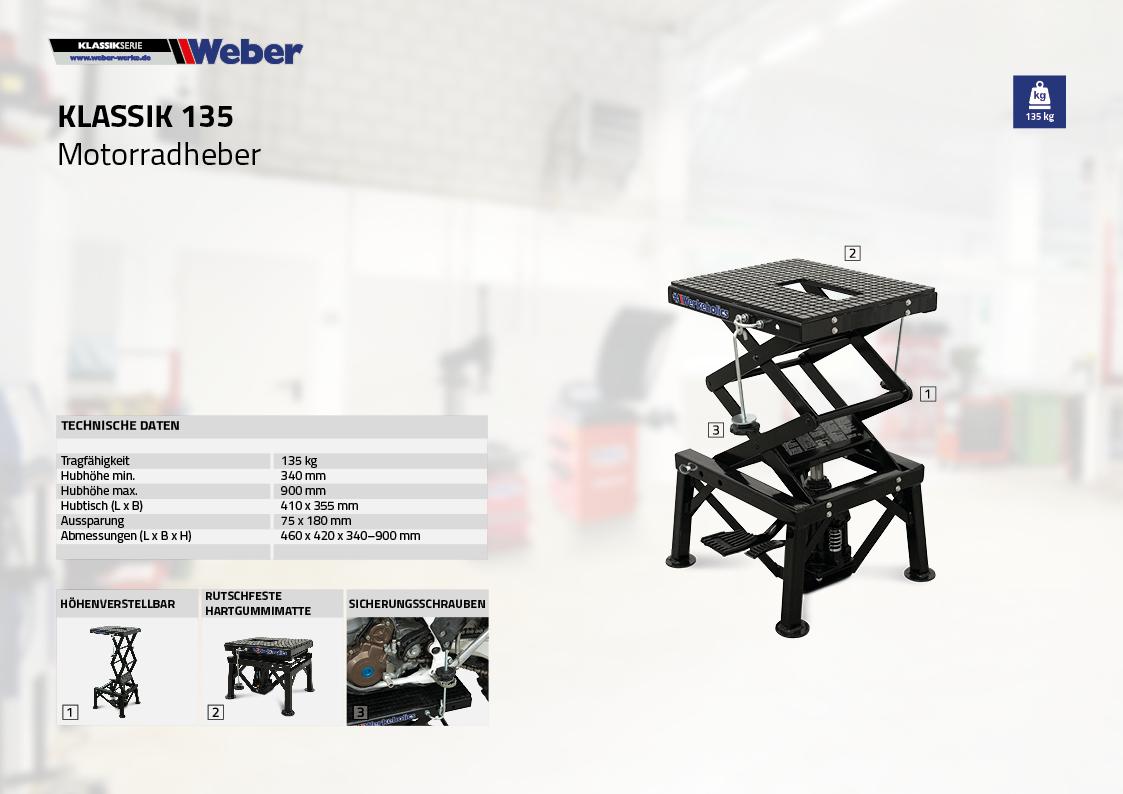 Motorradheber Weber Klassik Serie - 135