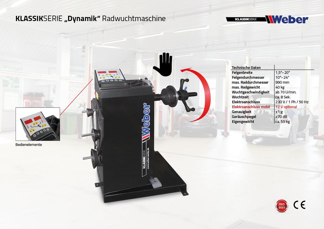 Weber Klassik Serie Radwuchtmaschine Dynamik