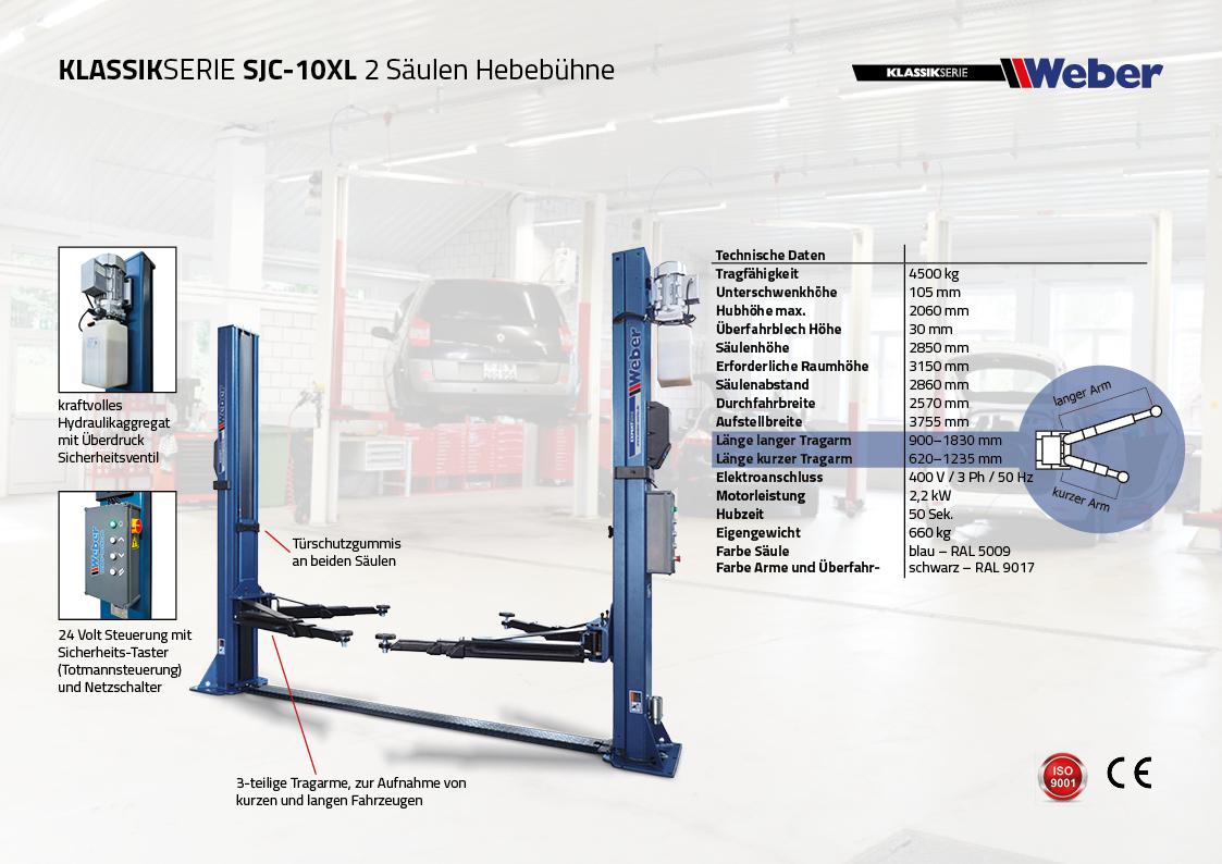 2 Säulen Hebebühne Weber Expert Serie SJC-10XL