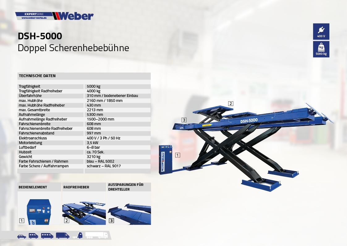 Scherenhebebühne für Achsvermessung Weber Expert Serie DSH-5000