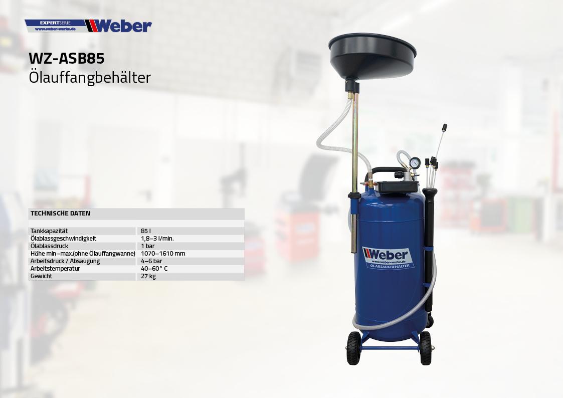 Weber Ölauffangbehälter mit Absaugfunktion 85 l
