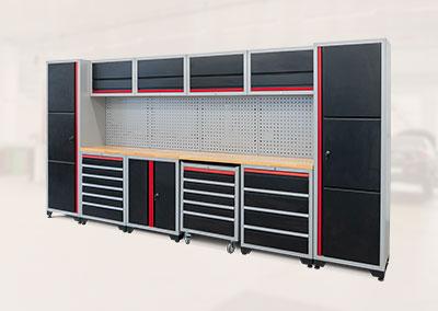 Professionelles Werkstatt Schranksystem 16-teilig